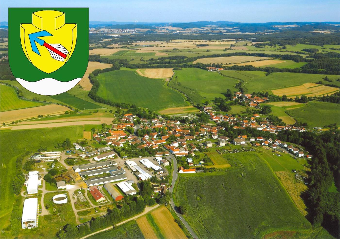 Letecký snímek obce Novosedly
